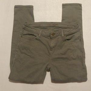 MICHAEL KORS khaki skinny jeans size 6